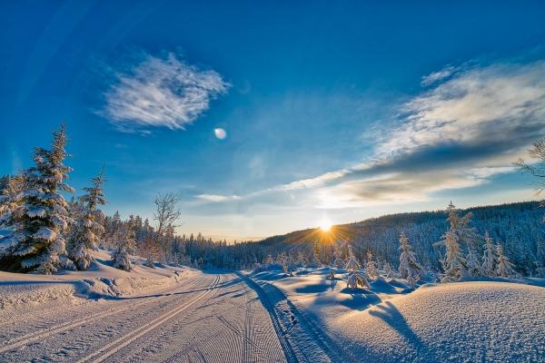 Vinterlykke nær Eggevollen