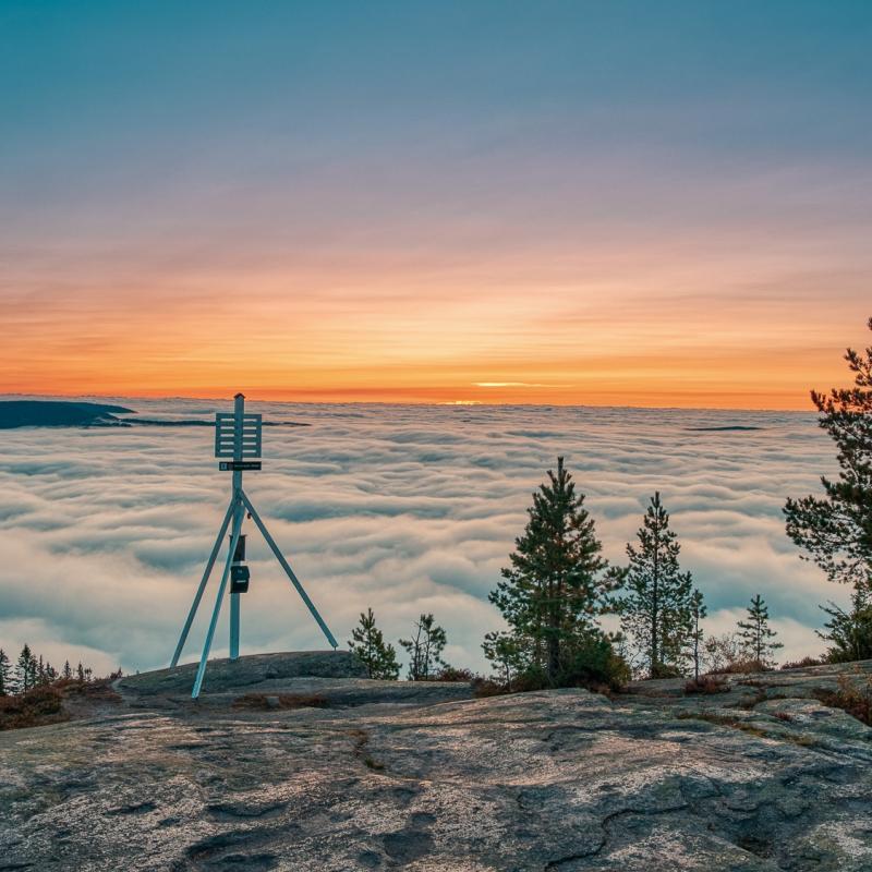 Storsteinsfjell - utsikten - Lier