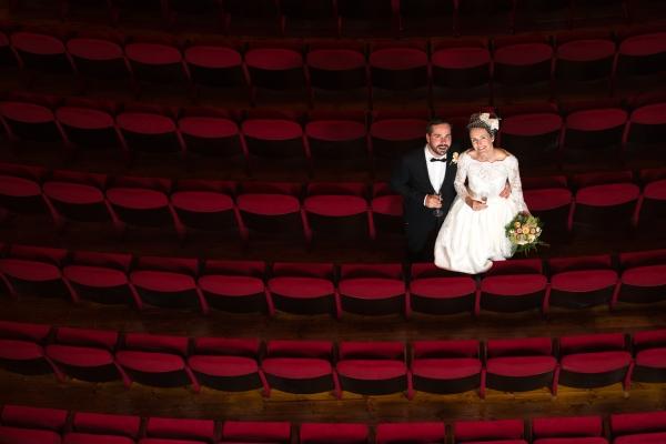 Brudepar i Drammen teater