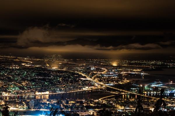 Drammen by night