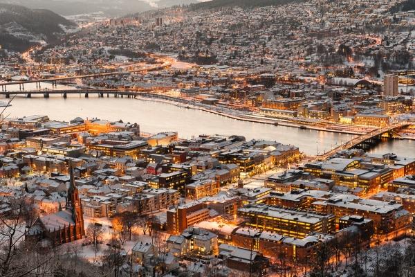 Drammen vinterstid